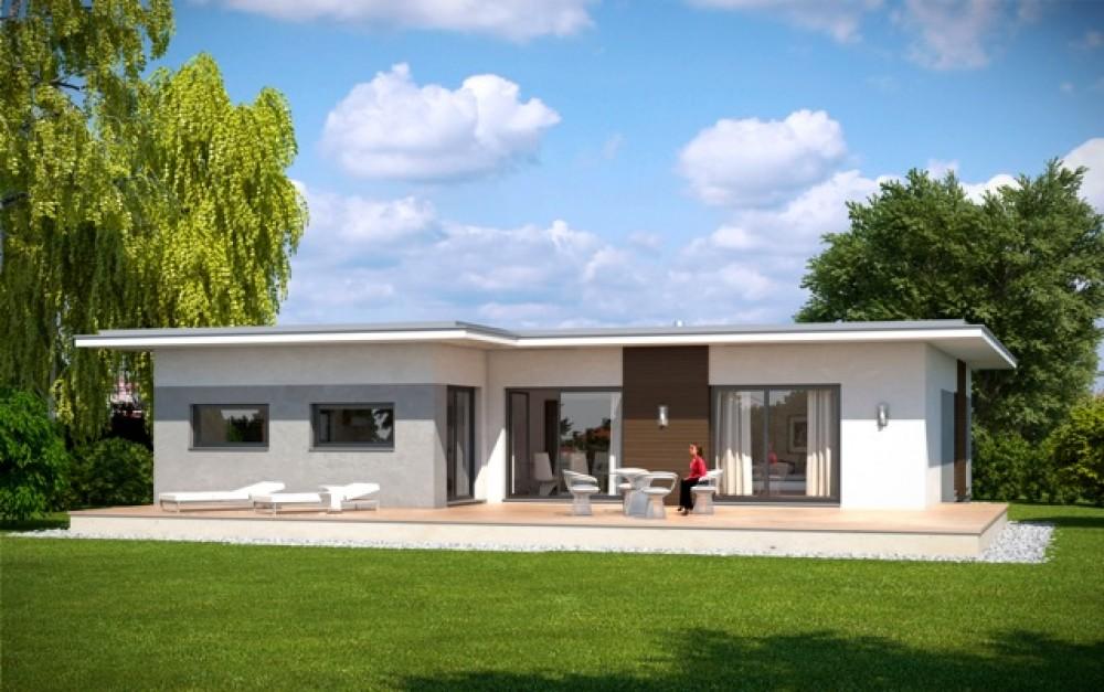 Bungalow flat emondi 135 barrierefrei g nstig for Musterhaus flachdach