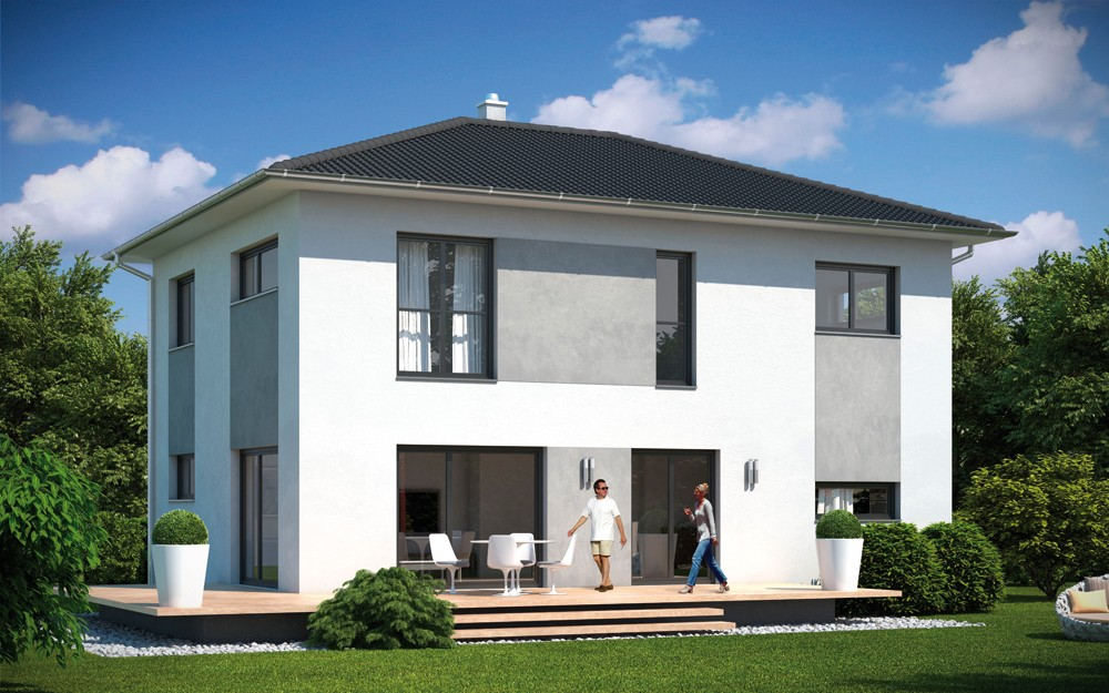 fertighaus life emondi walmdach satteldach pultdach. Black Bedroom Furniture Sets. Home Design Ideas