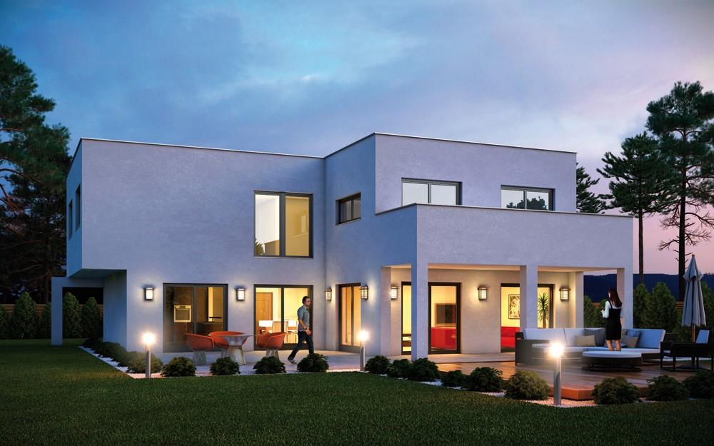 Toskana haus mit flachdach ihr traumhaus ideen for Haus modern flachdach