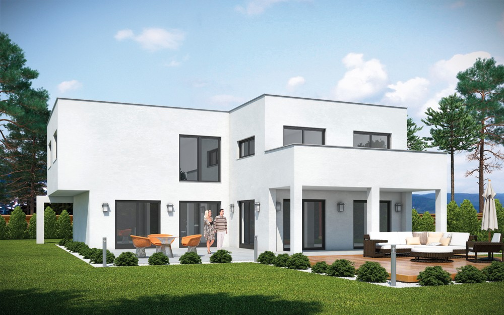 haus cube emondi 190 fertighaus mit flachdach. Black Bedroom Furniture Sets. Home Design Ideas