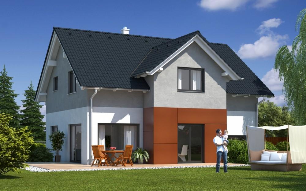 haus best emondi 145 fertighaus mit satteldach. Black Bedroom Furniture Sets. Home Design Ideas